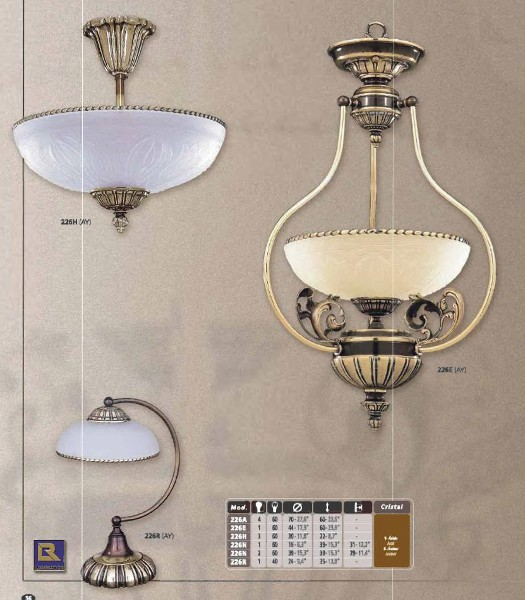 Люстры, подвесы классика Люстра Riperlamp 226-1