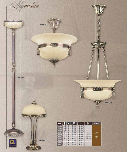 Люстры, подвесы классика Люстра Riperlamp 220-1